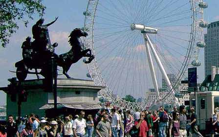 Sightseeing Ausflug Freizeit London Sprachreise London Eye Riesenrad